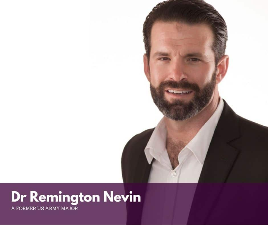 Dr. Remington Nevin a former US Army Major